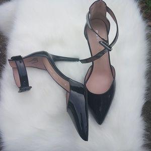 Madden girl electra black ankle strap heels